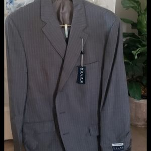 Mens Ralph Lauren Grey Stripe Suit 46L